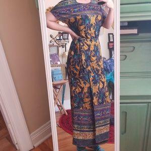 VTG Carole Little Boho Wrap Maxi Dress